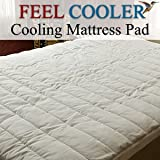 Cooling Mattress Pad - King Feel Cooler Mattress Pad