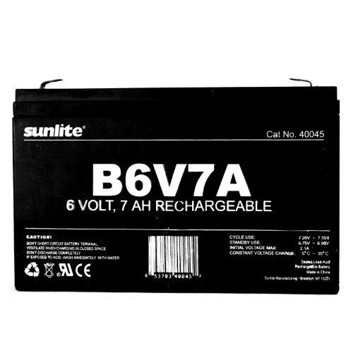 Sunlite 40045-SU B6V7A 7-Amp Hour Emergency Backup Battery, 6-volt