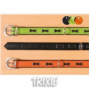 Trixie - Collare per cani con osso, taglia M (50 cm), 41-47 cm, verde