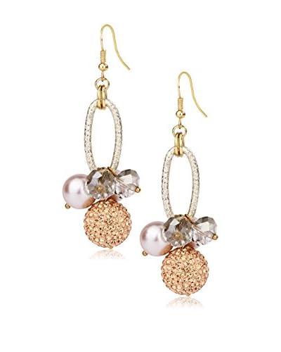 Saachi Champagne Shamballa Drop Earrings