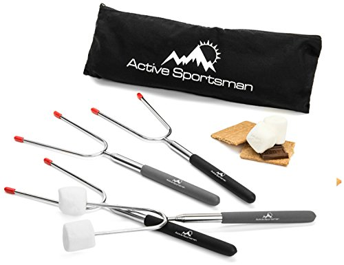 Active Sportsman 45-Inch Extra Long Telescoping Marshmallow Roasting Sticks, Pack of 4 (Rotisserie Gears compare prices)