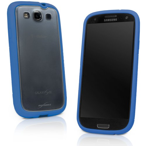 41YewCoeAVL   BoxWaves Galaxy S3 UniColor Case   Sleek Dual Tone TPU Case for Durable Anti Slip Protection, Transparent Matte Back with Solid Border   Galaxy S3 Cases and Covers (Super Blue) Discount