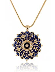 Estelle Gold Plated Pendant With Crystals (427)