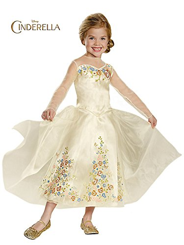 Disney Cinderella Movie Wedding Dress Deluxe Kids Costume - L (10-12)