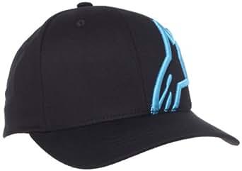 Alpinestars Men's Corp Shift 2 Flexfit Baseball Cap, Black (Black/Blue), Medium (Manufacturer Size:Small/Medium)