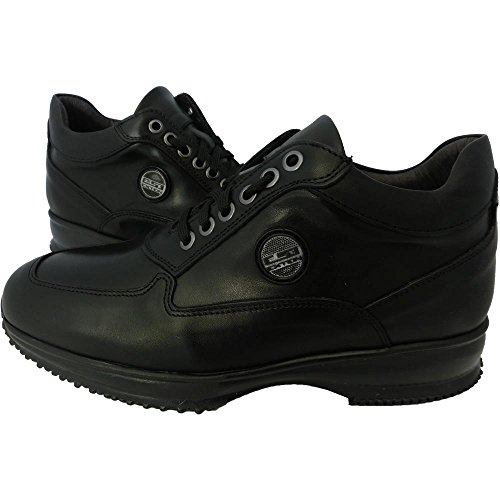 Scarpe uomo Exton 2029 0729 - Sneaker crust nero made in italy (43)