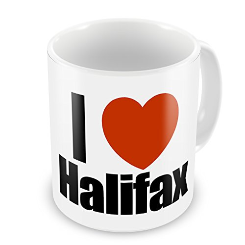 Coffee Mug I Love Halifax Region: Yorkshire And The Humber, England - Neonblond