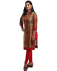 Kala Nidhi Women's Printed Cotton Kurti(Multicolour_Large_40)