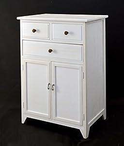 cm wide white cabinet sideboard shabby vintage look bathroom cabinet