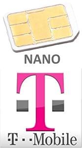 NEW OFFFICIAL T-MOBILE PAYG NANO SIM CARD FOR IPHONE 5 (GENUINE NANO SIM - NO CUT DOWN)