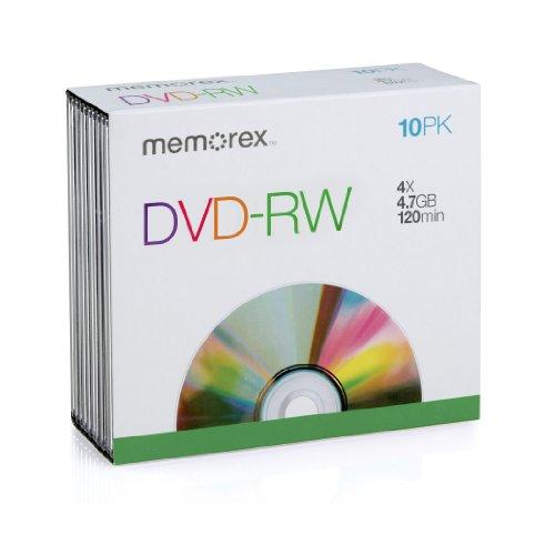 DVD-Rw Discs, 4.7GB, 2x, W/Slim Jewel Cases, Silver  Categor