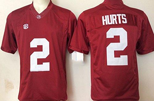 Men's Alabama Crimson Tide Jalen Hurts #2 College Football Jersey Red Medium (College Football Alabama compare prices)