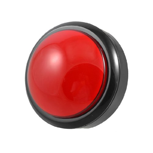 Arcade Game AC 250V 15A 80mm Dia Circular Push Button Red + Micro Switch