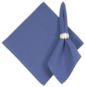 "Hand Woven 100% Cotton Solid Marine Blue 22""x22"" Napkins, Set of 6 - Marine"