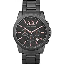 Armani Exchange AX2086 Mens Grey IP Chronograph Watch