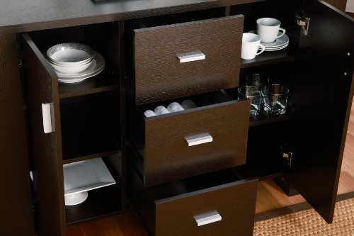 Marvelous IoHOMES Quincy Dining Buffet/Server, Cappuccino Furniture Cabinets Storage  Buffets Sideboards