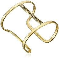 Lucky Brand Gold Pave Bar Cuff Bracelet