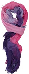 LibbySue-100 Cotton Watercolor Ombre Print Oblong Scarf