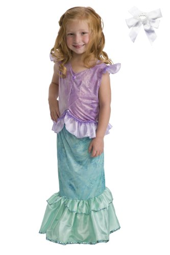 Little Adventures 11244 Mermaid Princess Dress up Costume Age 7-9 with Hairbow