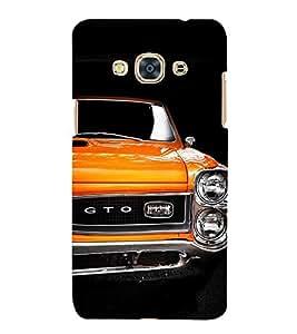 Stylish Orange Car 3D Hard Polycarbonate Designer Back Case Cover for Samsung Galaxy J3 Pro