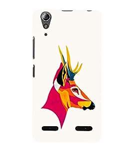 EPICCASE Artistic deer Mobile Back Case Cover For Lenovo A6000 (Designer Case)