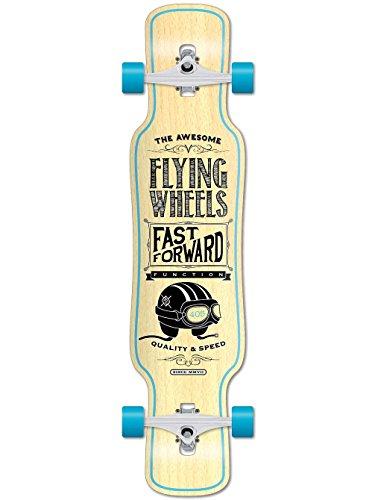 "Flying Wheels, Longboard, Turchese (Aqua), 40,5"""