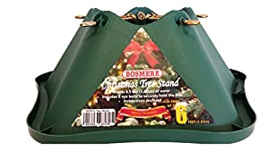Bosmere 6-inch Plastic Christmas Tree Stand with 4.75-inch Trunk - Green