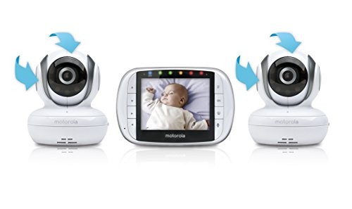 Motorola Video Baby Monitor with 2 Cameras, 3.5 Inch LCD Color Screen, Remote Camera Pan, Tilt, Zoom