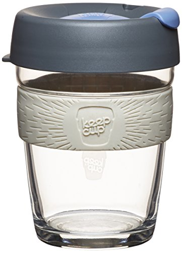 Keepcup 12-Ounce Brew Glass Reusable Coffee Cup, Medium, Silver