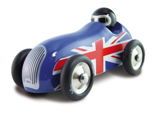 Vilac Push and Pull Baby Toy Sports Car, Union Jack