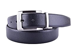 CALLESTO Men's Leather Belts(CA7001DIP599_Black_34)