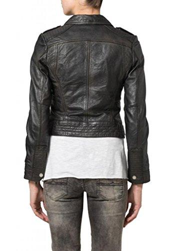 KGN FASHION Women Cow Leather Jacket WC068 S Black