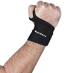 MaxKare Adjustable Weight Lifting Training Wrist Straps / Wrist Bracers Wraps Belt Protector Wrist Weights with Thumb Loops for Men And Woman
