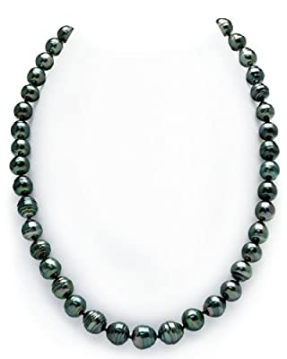 "14K Gold Clasp Dark Tahitian South Sea Baroque Cultured Pearl Necklace - AAA Quality, 18"" Length"