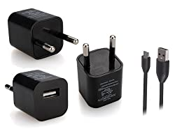Callmate USB Home Cube Charger With Micro Data and Charging Cable for Mobiles and Tablets (TCBK-MIDC01)