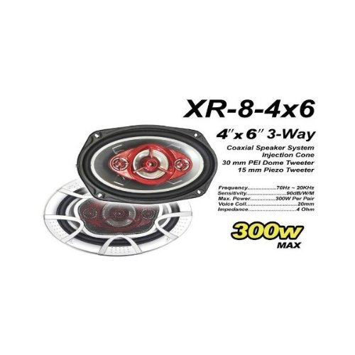 4''X6'' 3-Way Coaxial Speaker System [Electronics]