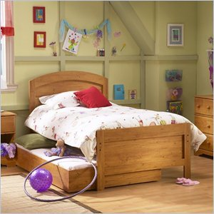 Cheap South Shore Prairie Kids Antique Pine Twin Wood Panel Bed 3 Piece Bedroom Set (3232189-3PKG)