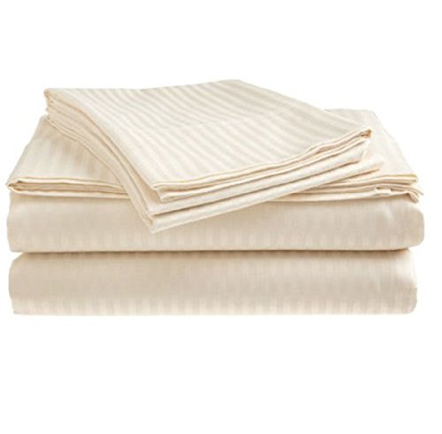 ITALIAN DAMASK 4 Piece QUEEN Sheet Set, BEIGE Coupon 2016