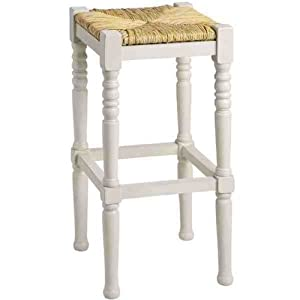 new shabby chic antique white bloomington bar stool. Black Bedroom Furniture Sets. Home Design Ideas