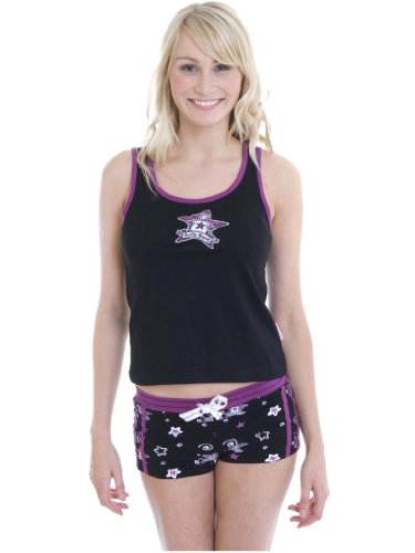 50 -PRG0068 LADIES SLEEVELESS TOP SHORTS PYJAMA