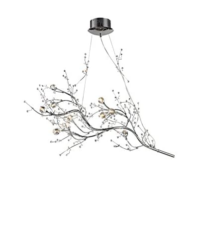 Artistic Lighting Viviana Collection 10-Light Horizontal Chandelier, Polished Chrome As You See