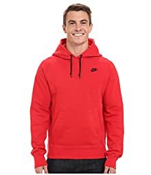 Nike Mens AW77 Fleece Pull-Over Hooded Sweatshirt University Red/Black 598707-658 Size Large