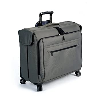 delsey luggage helium x 39 pert lite ultra light 4 wheel spinner garment bag gray 45. Black Bedroom Furniture Sets. Home Design Ideas