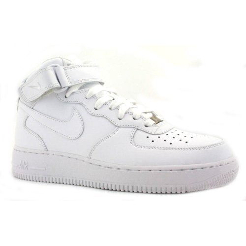 Nike Airforce 1 Mid Leather Mens Trainers White/ White 6 UK