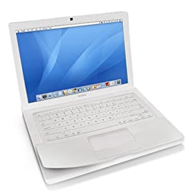 Rasfox Keyboard Skin for 13-inch Apple MacBook Laptop - Solid White
