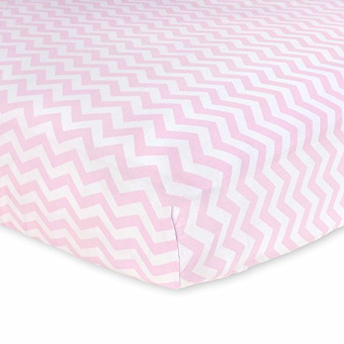 Carter's Cotton Fitted Crib Sheet, Softly Pink Chevron