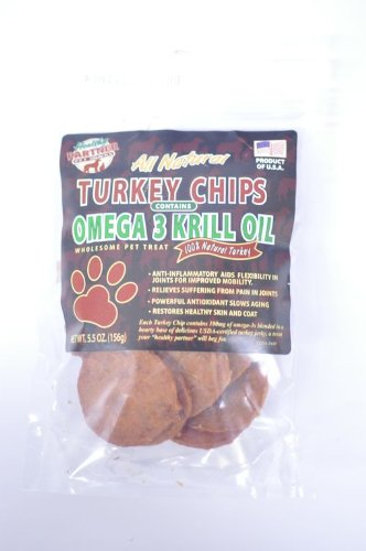 Healthy Partner Pet Snacks Turkey Chips with Krill, 5.5-Ounce (Pack of 4)