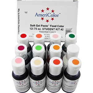 Americolor Soft Gel Paste Food Color Student Kit #2