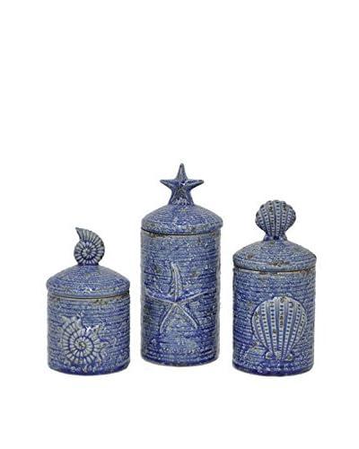 Three Hands Set of 3 Ceramic Lidded Jars