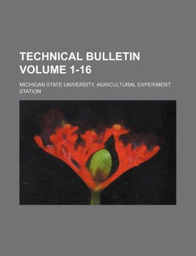 Technical Bulletin Volume 1-16